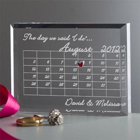 結婚記念日カレンダー   ハワイの引き出物プルメリアカフェ