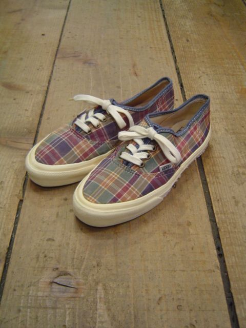 "<1990's>〝OLD"" VANS AUTHENTIC -MADRAS CHECK- MADE IN USA"