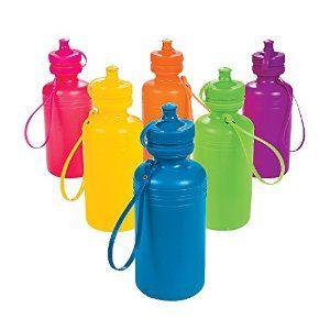 Amazon.com: Neon Sport Water Bottles (1 dozen) - Bulk [Toy]: Kitchen & Dining