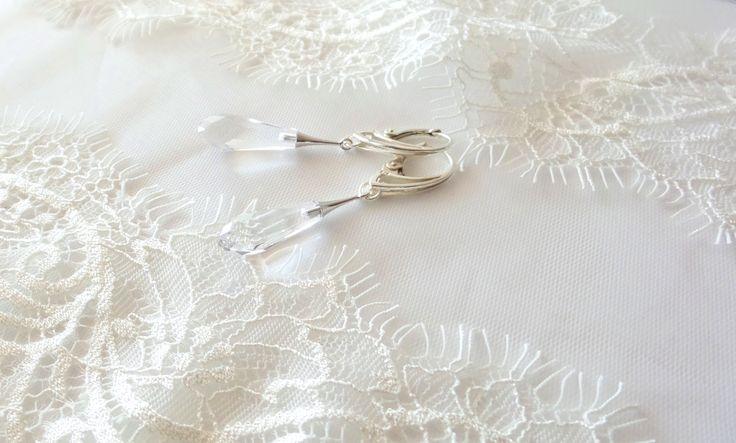 Drop Swarovski Earrings for Brides