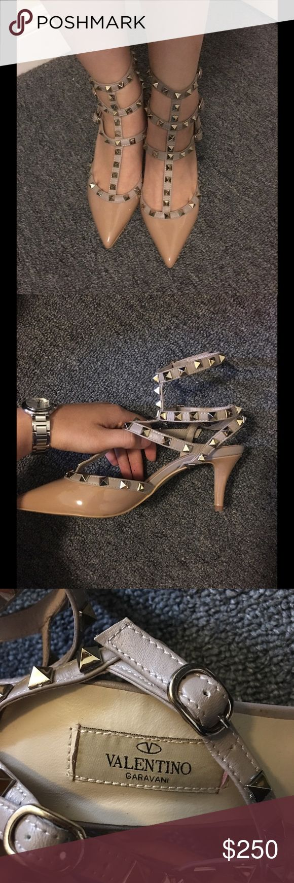 Valentino ankles strap heel Price reflect authenticity, 😉 high quality shoes. Comes with dust bag, final sale no return Shoes Heels