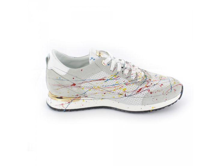 Noclaim Glory - Damen Sneaker mit bunten Farbspritzern