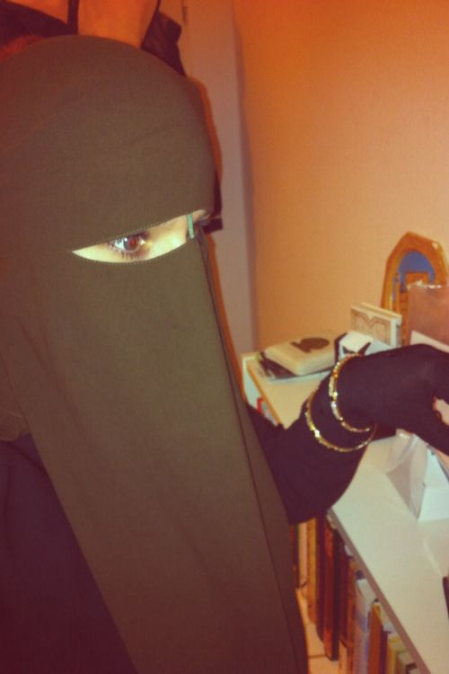 Brown Nose String Niqab