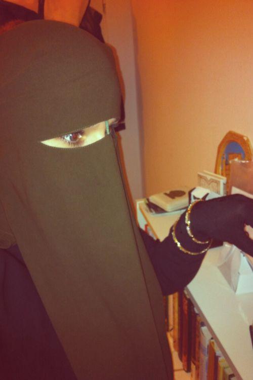Brown Nose String Niqab