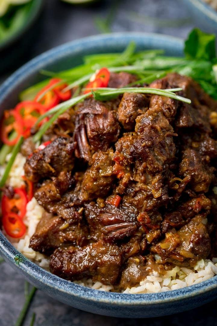 Beef Rendang Slow Cooked Fall Apart Spicy Beef With A Touch Of Heat Rendang Beefrendang Indonesianfood Beef Curry Recipe Beef Rendang Recipe Spicy Beef