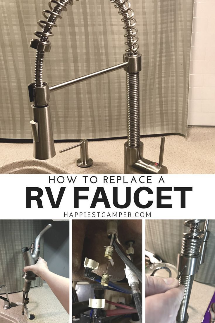 Rv Faucet Replacement Tutorial Diy Rv Rv Makeover Camper Makeover
