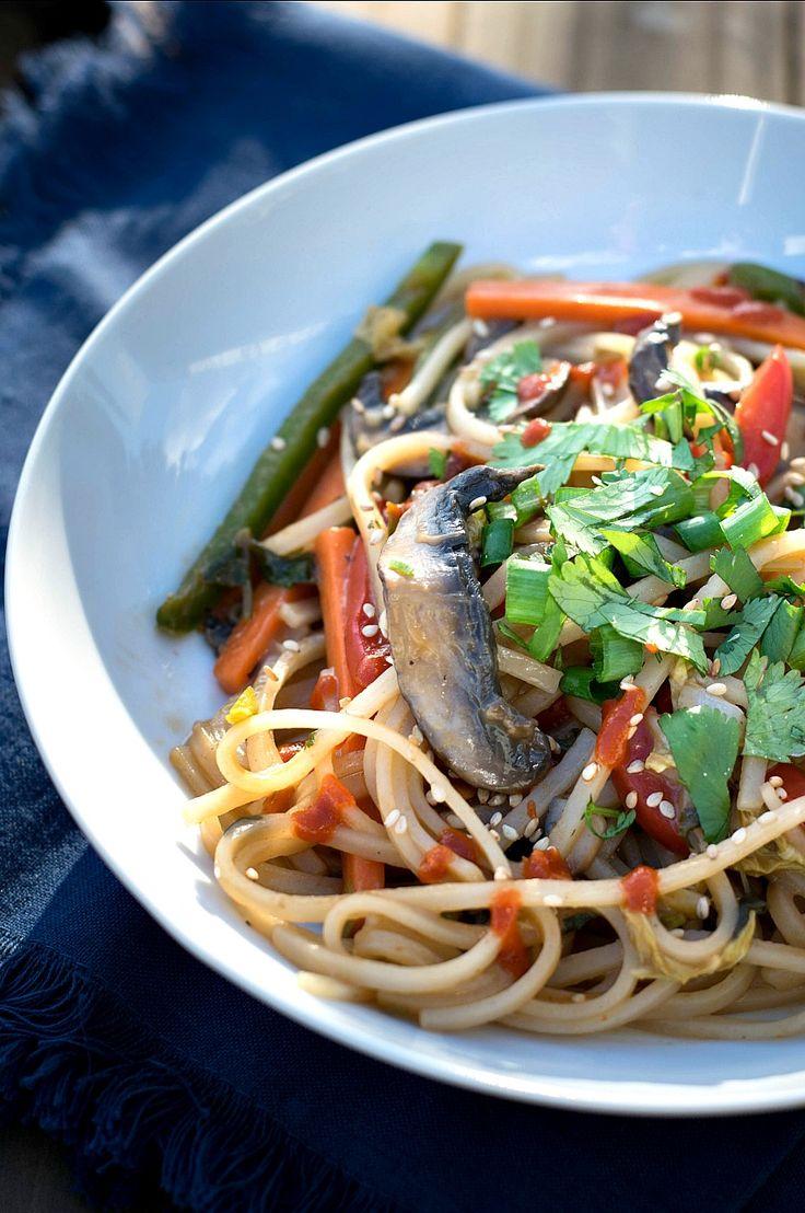 spicy veggie noodles stir fry