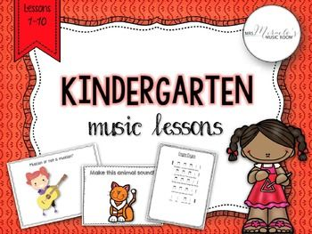 Need new ideas for your Kindergarten music lessons? This comprehensive set includes 10 detailed Kindergarten music lessons, with songs, chants, materials, and more! Aligned to the NCCAS!
