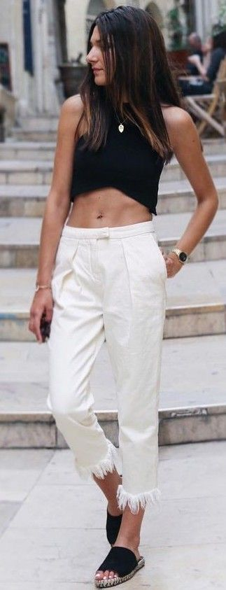 #summer #hot #weather #outfits |  Black + White