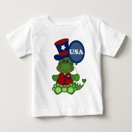 Patriotic balloon dragon July Fourth baby t-shirt - click to get yours right now!