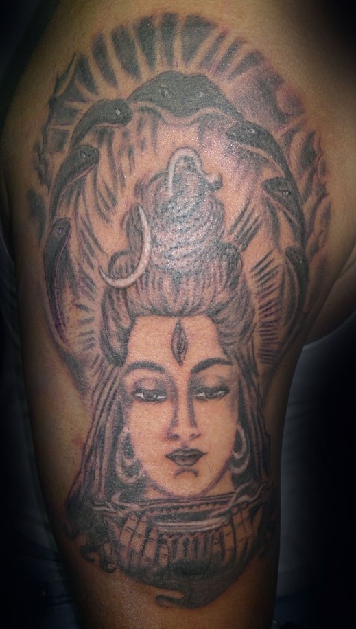 lord shiva tattoo with trishool research for a friend pinterest shiva tattoo lord shiva. Black Bedroom Furniture Sets. Home Design Ideas