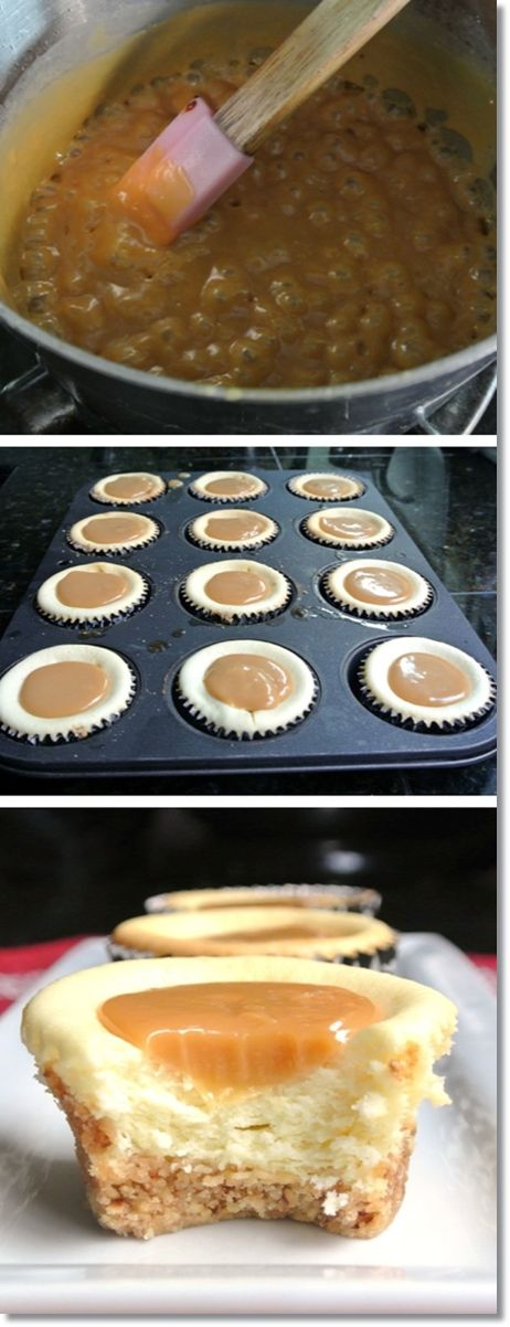 Caramel Cheesecakes #foods