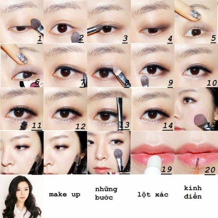 maquillage yeux bridés, comment bien se maquiller si on est asiatique