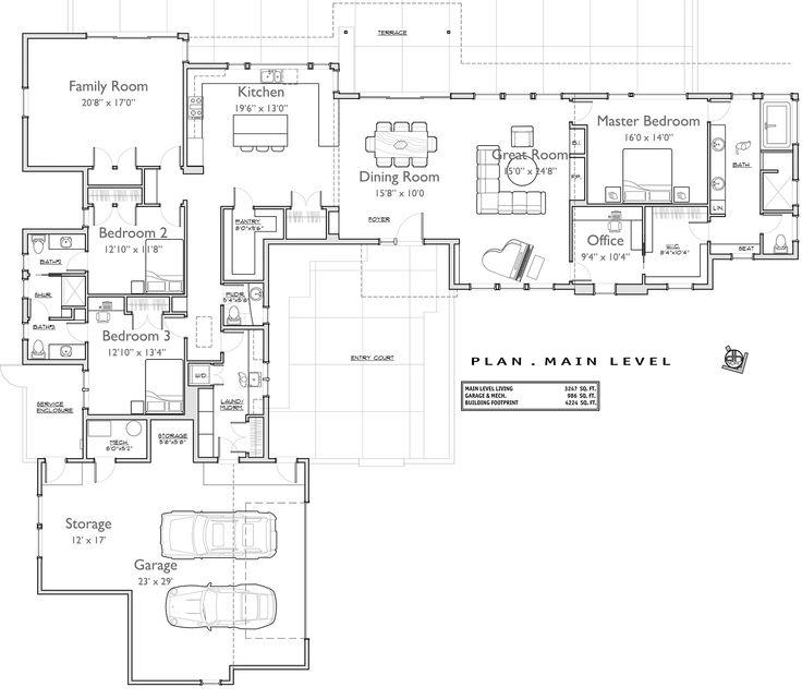 76 best L Shape house Plans images on Pinterest   House design ...