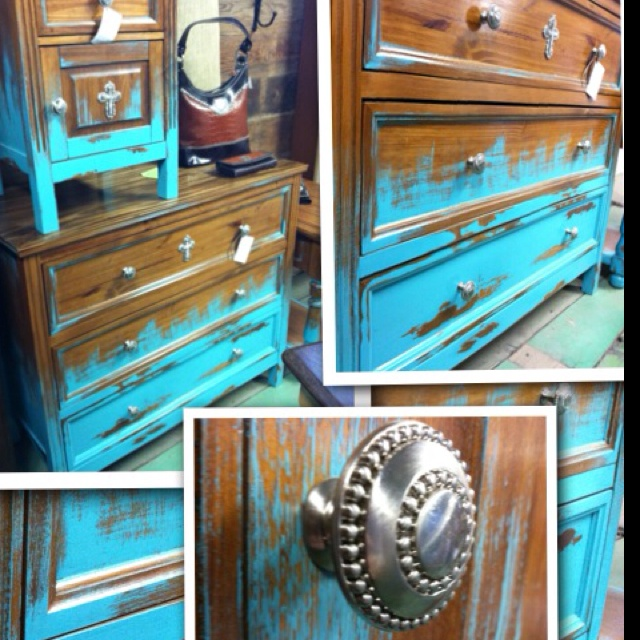 1000 images about turquoise furniture on pinterest for Painting over lead paint on furniture