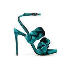 Outfit Ideas to Wear On a Night Out: MARCO DE VINCENZO Braided velvet sandals. | Coveteur.com