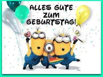Minions wünsche Ihnen ein: Alles Gute Zum Geburtstag! - GeburtstagsBilder, Grusskarten und Geburtstagsgrüsse