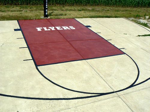Concrete Basketball Court My 7 Year Old 39 S Dream Backyard