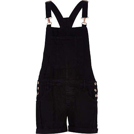 Black denim dungarees £30.00