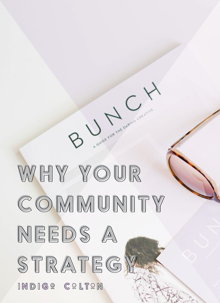 Why Your Community Needs A Strategy — Indigo Colton