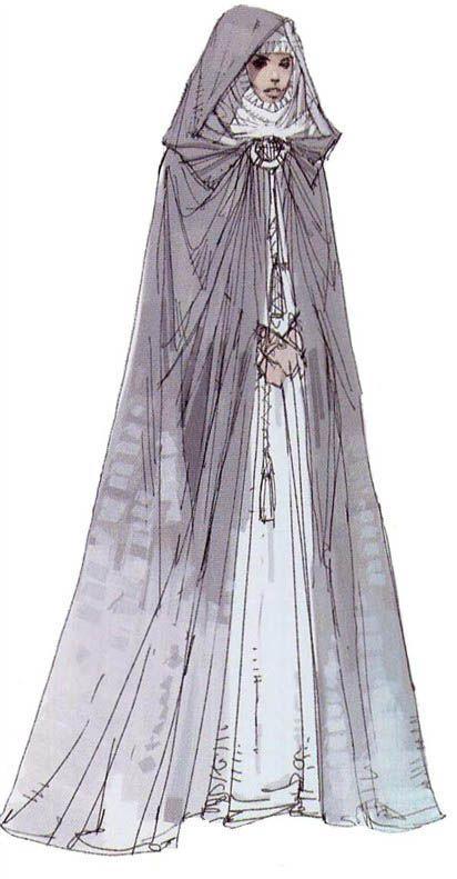 Star Wars Padme Amidala Tatooine Dress With Cloak - Original Concept Art I don't even like Star Wars...