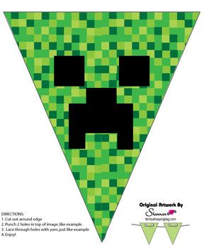 Banner, Minecraft, Party Decorations - Free Printable Ideas from Family Shoppingbag.com