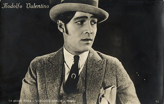 Rudolph Valentino 1920s postcard