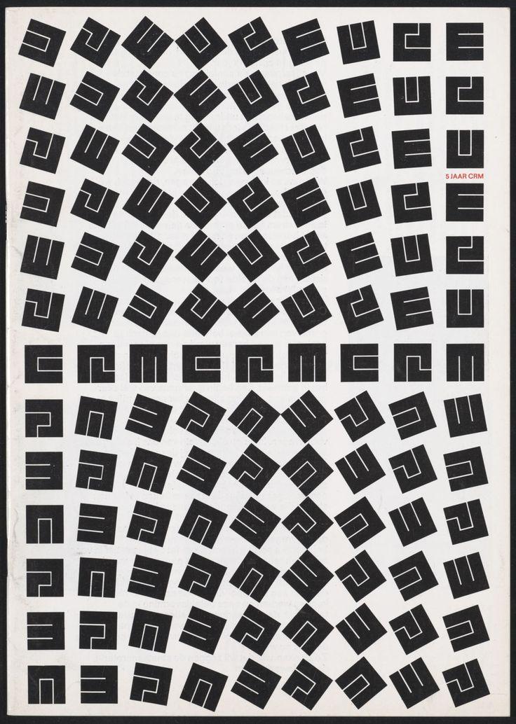 Jurriaan Schrofer - 5 jaar CRM [Cultuur, Recreatie en Maatschappelijk werk], cover - 1970 -  Client: Ministerie van Cultuur, Recreatie en Maatschappelijk Werk