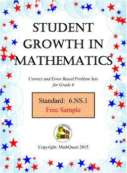 Achieving Maximum Student Growth in Mathematics has research based problem sets designed to push students into a deeper understanding rather than focus on just getting the answer.   Each correct and error based problem set has an exemplar problem and an incorrect problem for students to analyze followed by a practice problem.