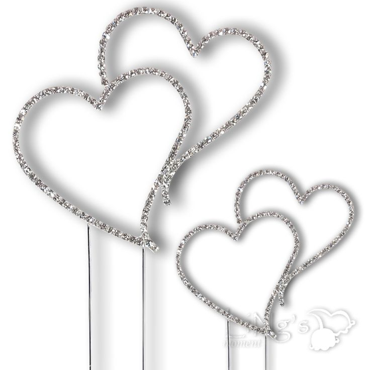 Two Hearts And Calla Lily Wedding Cake Toppers