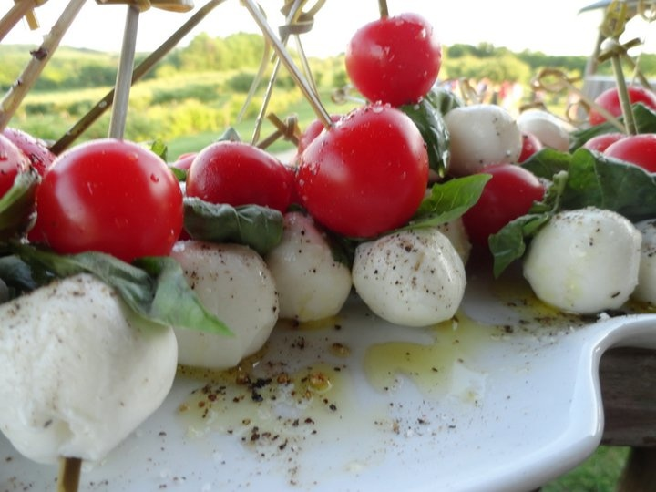 Caprese Skewers. Perfect for a summer event! Check out www.oliveeventscatering.com