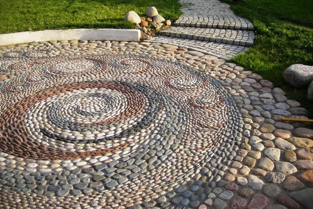 25 Unique Backyard Landscaping Ideas and Garden Path Designs with Pebbles