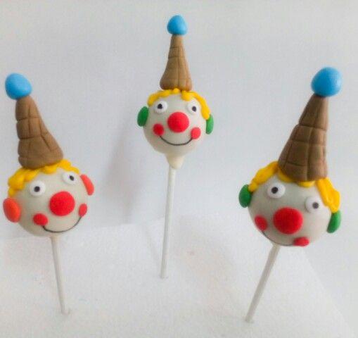 Cakepops payasitos #cakepops #cakepopscircus