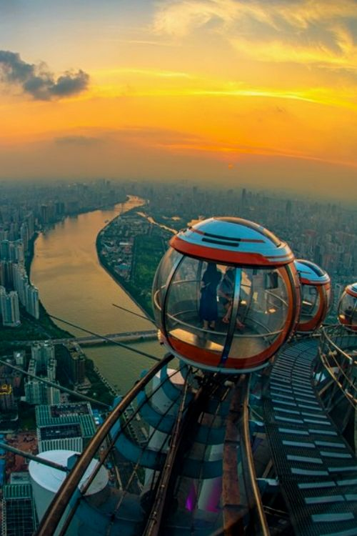 World's tallest 'Ferris wheel' opens on top of Canton Tower in Guangzhou, China