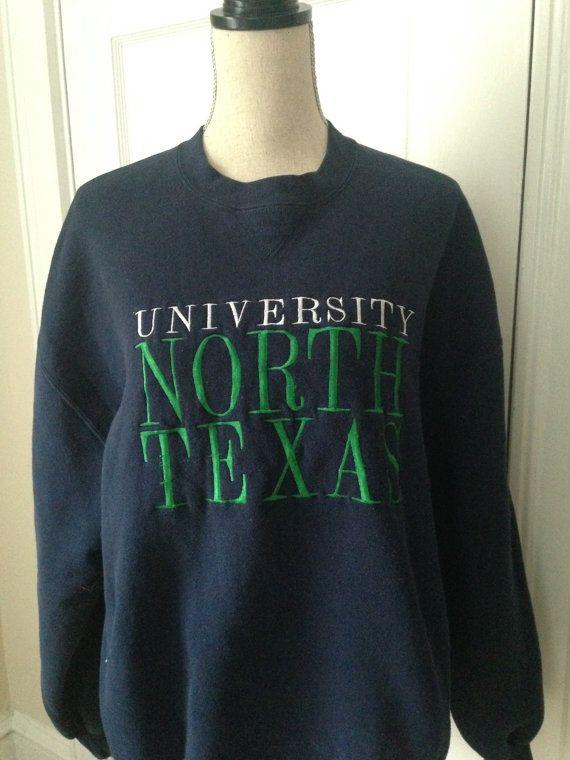 Vintage University of North Texas Sweatshirt by 21Vintage on Etsy