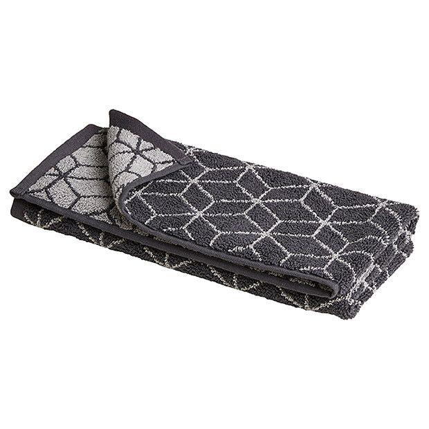Grandeur Geo Hand Towel - Steel Grey