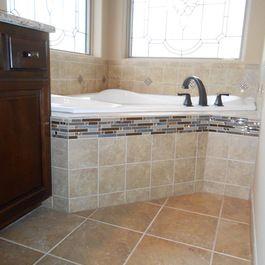 Dreamscape Homes Master Bathroom Jacuzzi Tile Work By Mckean S Masterbath Jacuzzi