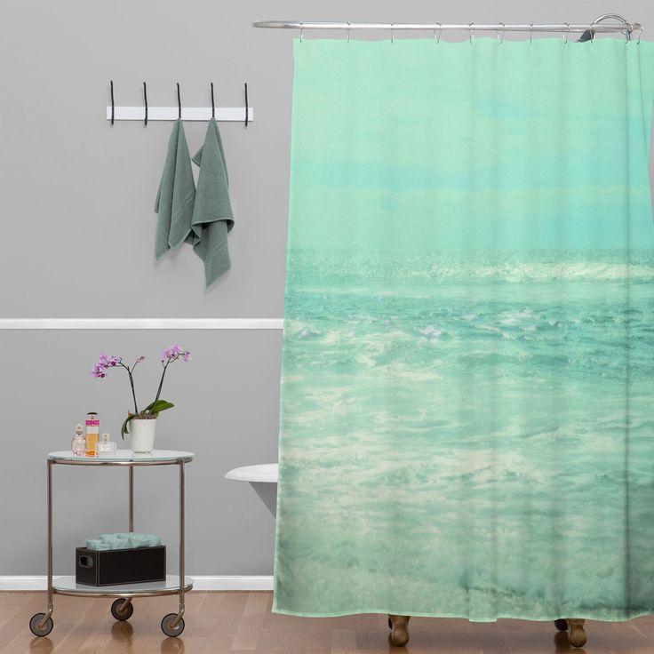 Lisa Argyropoulos Where Ocean Meets Sky Shower Curtain