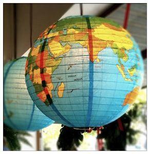 Welcome to the World Baby Shower - World Globe Lantern