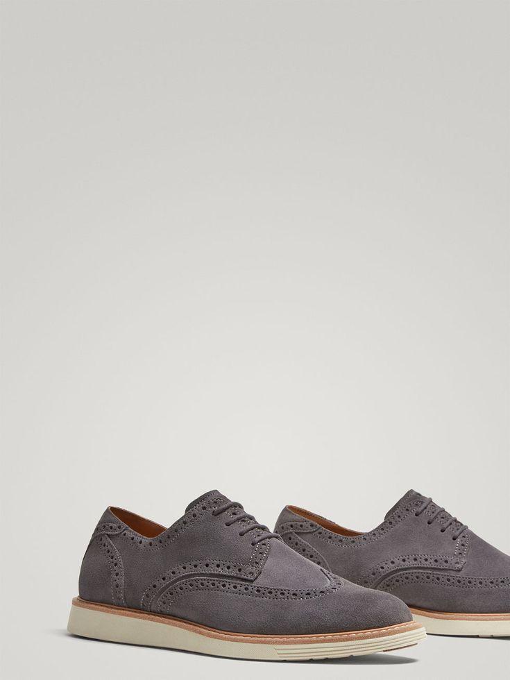 ZAPATO CASUAL PIEL SERRAJE GRIS de HOMBRE - Zapatos - Ver todo de Massimo Dutti de Otoño Invierno 2017 por 79.95. ¡Elegancia natural!
