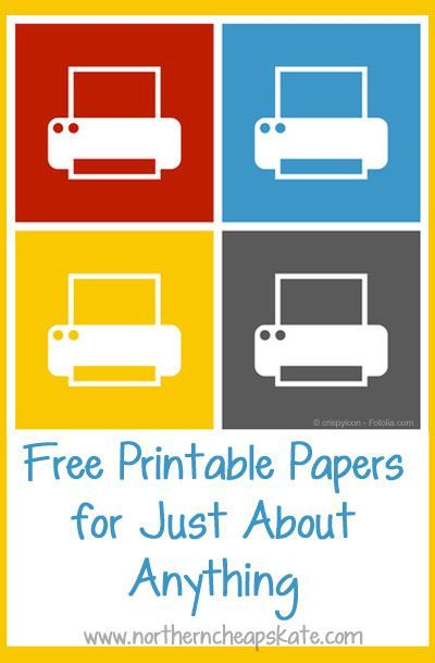 Whether you need graph paper or a Yahtzee score sheet, these free printable papers are sure to help!