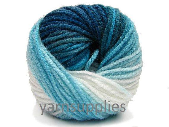 knit yarn turquoise yarn acrylic yarn batik Alize by yarnsupplies, $4.75
