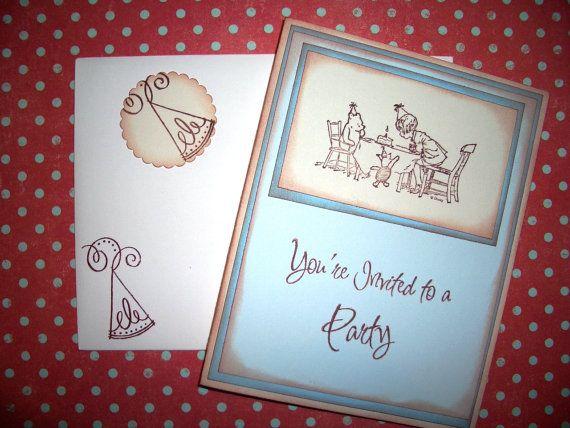 Winnie the Pooh Invitation Card  Birthday  by tinkerbellshop, $3.75. Love the font!