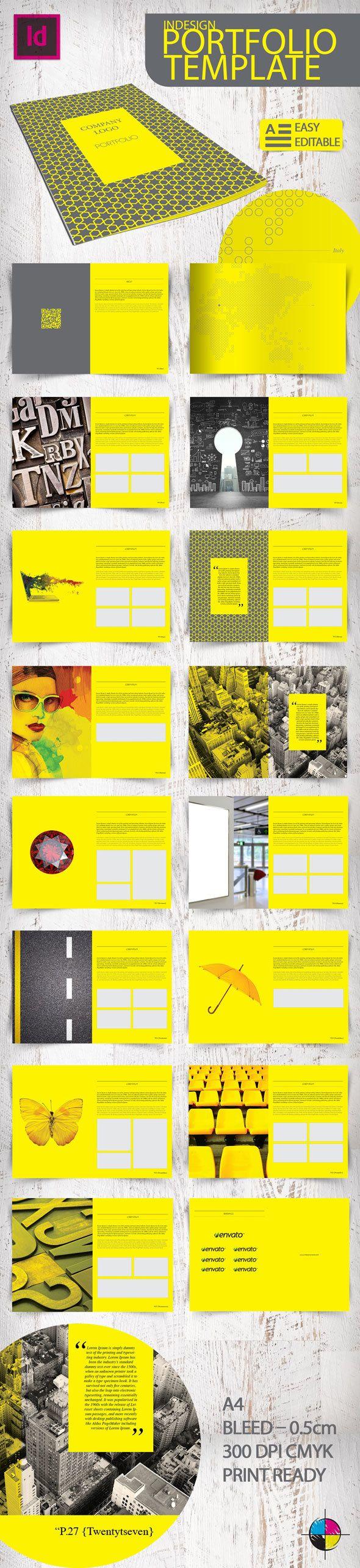 Indesign Portfolio Template by Erdem Ozkan, via Behance
