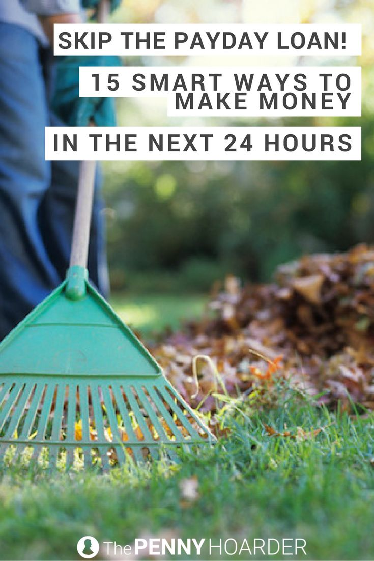 You need money now. You're getting desperate. But before you take out a payday loan -- and the outrageous interest rates that come with it -- try these 15 smart, legal ways to make money fast. @thepennyhoarder