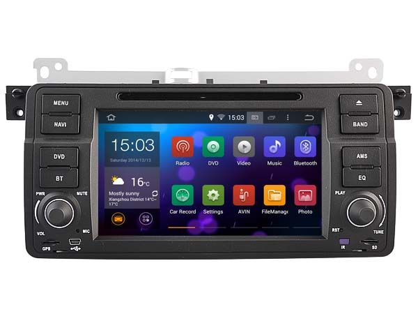 Quad-Core Android 5.1.1  CAR DVD player navigation FOR BMW M3(1998-2005) car audio stereo Multimedia GPS support OBD
