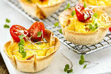 Little ham and cheese wrap tarts