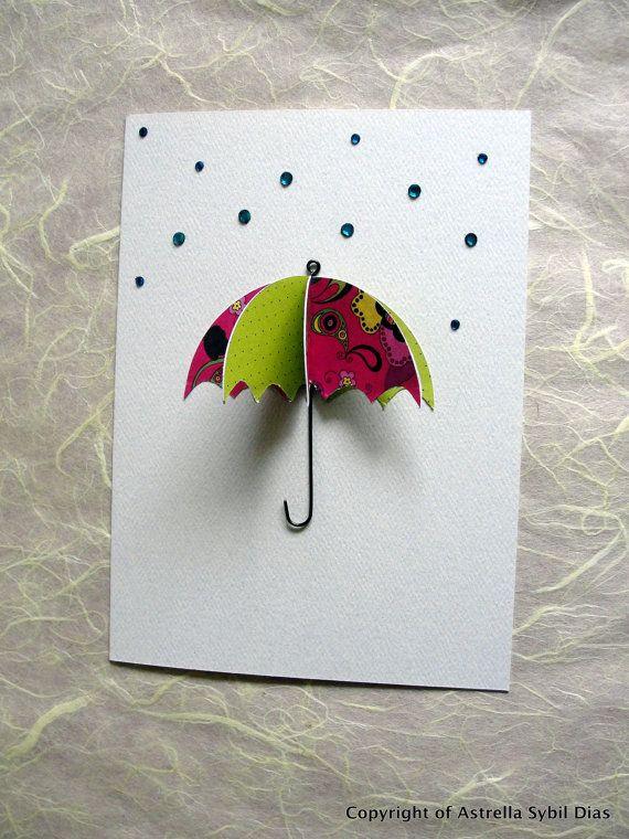 Идеальное утро, открытка зонт