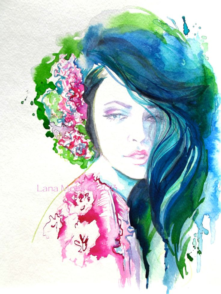 Watercolor Woman Faces | www.pixshark.com - Images ...