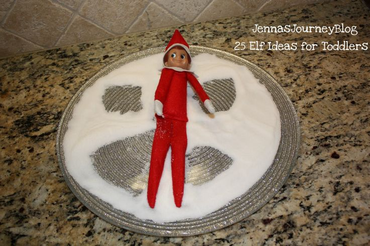 Make a sugar snow angel! I've seen this done with flour, but who wants to clean that mess up? Try sugar and do it on a plate! Fast cleanup!